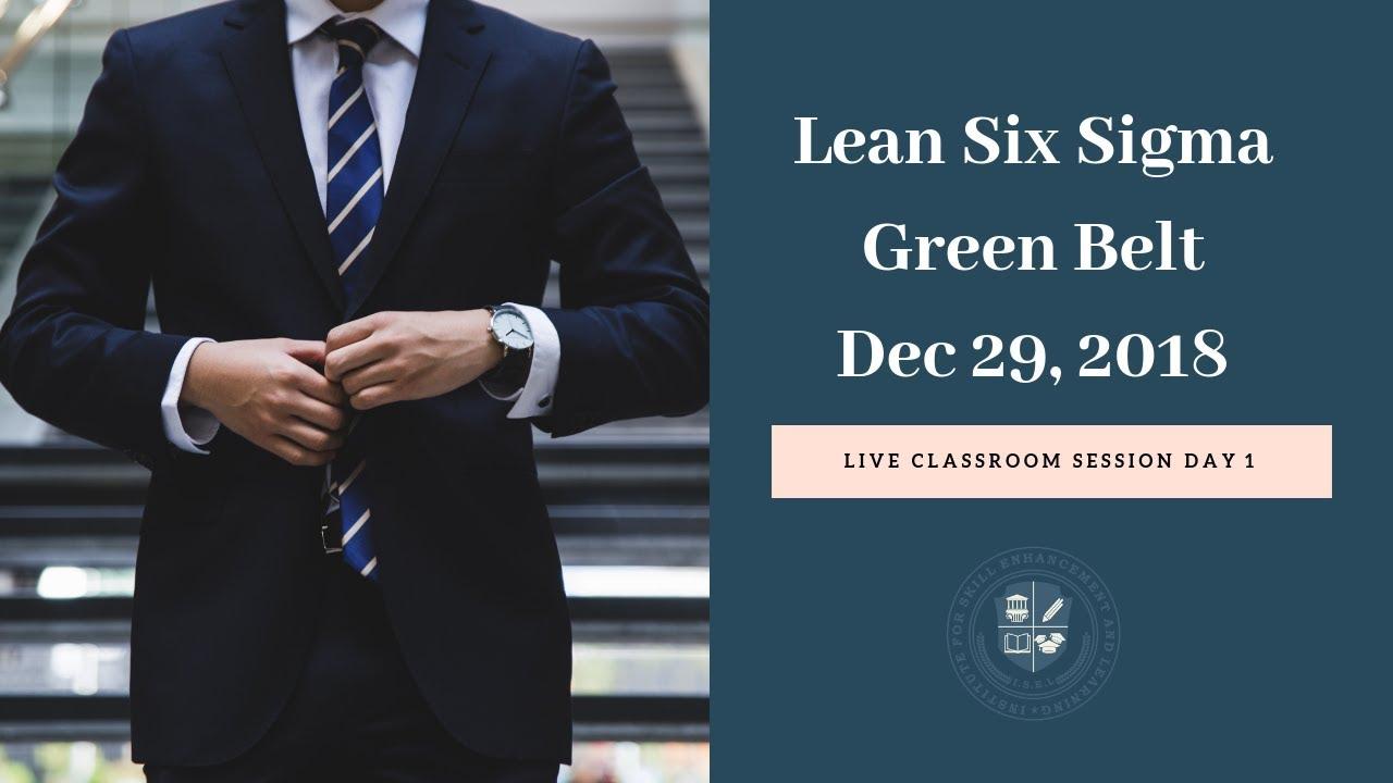 Certified Lean Six Sigma Green Belt Certification - Aspiration Jobs