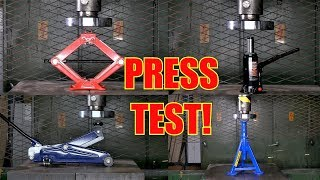 Which is the Strongest Car Jack? Hydraulic Press Test! thumbnail
