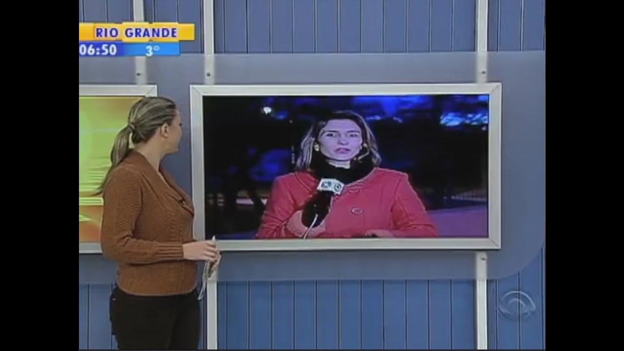 Janice Santos Entra Ao Vivo No Bom Dia Rio Grande E Fala Com Temperatura A Zero Grau Em Passo Fundo
