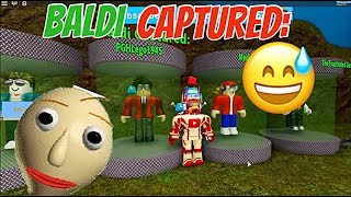 BALDI HAS CAPTURED YOUTUBERS IN AN OBBY!! | The Weird Side of Roblox: Baldi's Basics Obby
