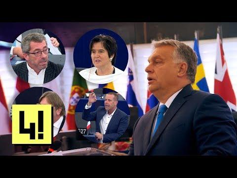 Így vívta meg a vesztes csatáját Orbán Viktor az Európai Parlamentben