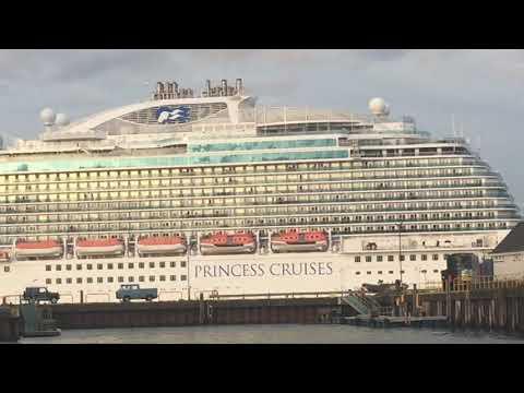 The Regal Princess departing ocean terminal Greenock