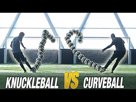 CR7 VS MESSI - Knuckleball vs Curveball CHALLENGE
