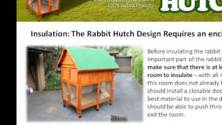 Rabbit Hutch Designs - How To Insulate A Hutch - Part 01
