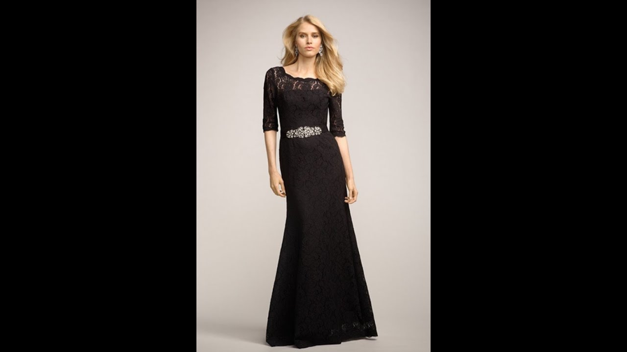 498814da5 اشيك فساتين سهرة طويل اسود جديدة 2017 - Most Stylish Long Black Evening  Dresses new