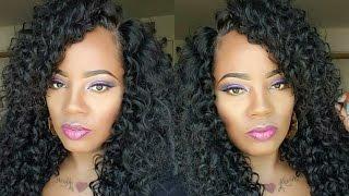 Best Curly hair. Blend like a Pro. Sensationnel custom cap bohemian.  Samsbeauty.com