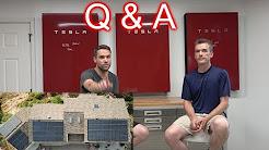 Tesla Solar Install Q&A! Solar Panels, Powerwalls, Chargers, etc.