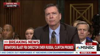 Grassley Senate Committee tantrum -- Comey hearing May 3