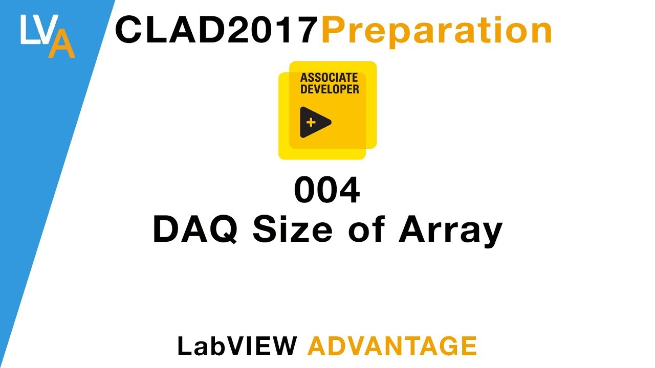 LabVIEW CLAD 004 DAQ Size of Array