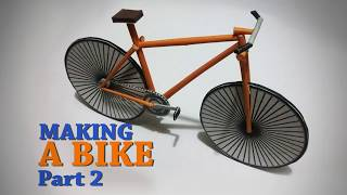Making a papercraft bike. Video tutorial PART 2