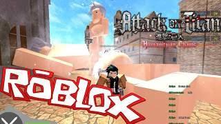 ATTACK THE TITANES in ROBLOX!