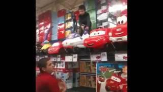 Crazy Kid at Toys R Us ToysRUs