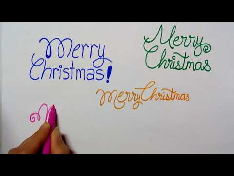 How To Write Merry Christmas In 5 Different Styles