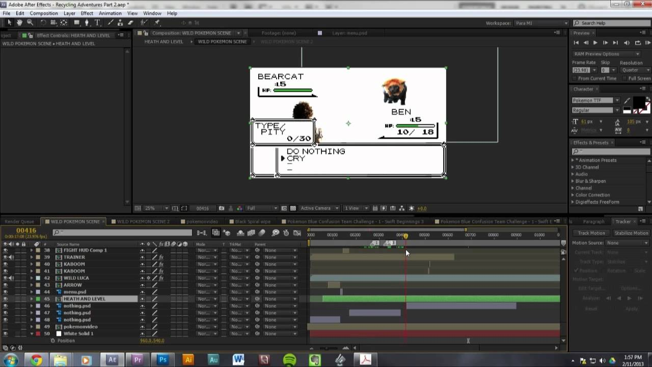 ra ep 06 bts how to create your own pokemon battle after effects