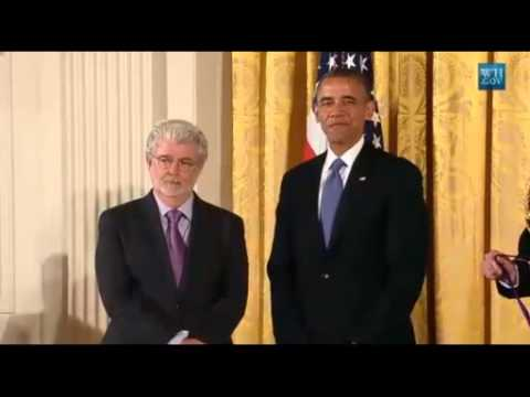 George Lucas Awarded National Medal Of Arts By President Obama