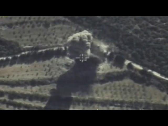 Уничтожение зенитного орудия боевиков ударом ВКС РФ в Сирии