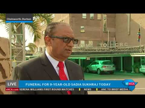 Funeral for 9-year-old Sadia Sukhraj today