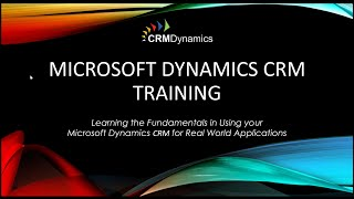 Microsoft Dynamics CRM 2016 - Basic Customizations (43:49)