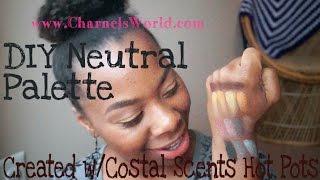 DIY Neutral Palette for Brown Skin⎜Coastal Scents Hot Pots