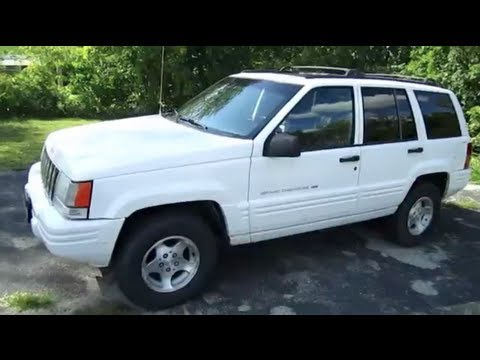 1998 jeep grand cherokee white