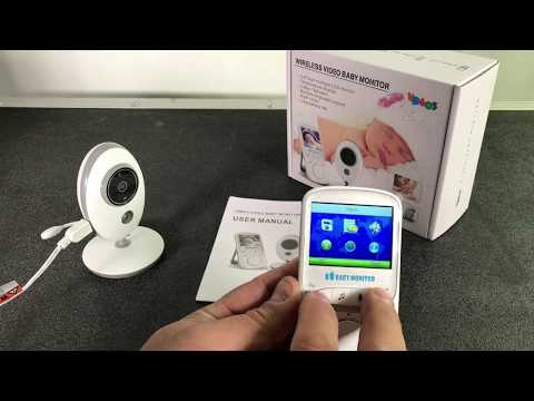 anmade-baby-monitor-wireless-camera,-night-vision,-lullabies,-rechargeable
