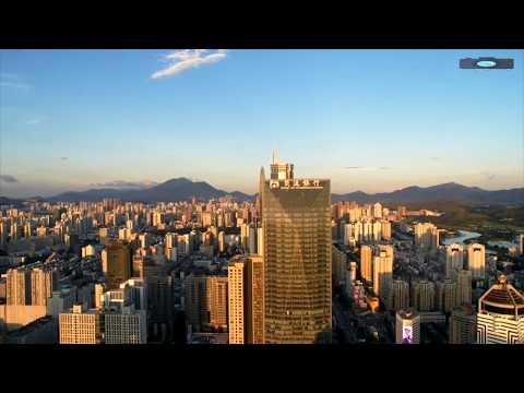 shenzhen city drone view