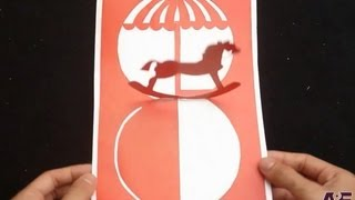 Kirigami Horse Pop Up Greeting Card Tutorial