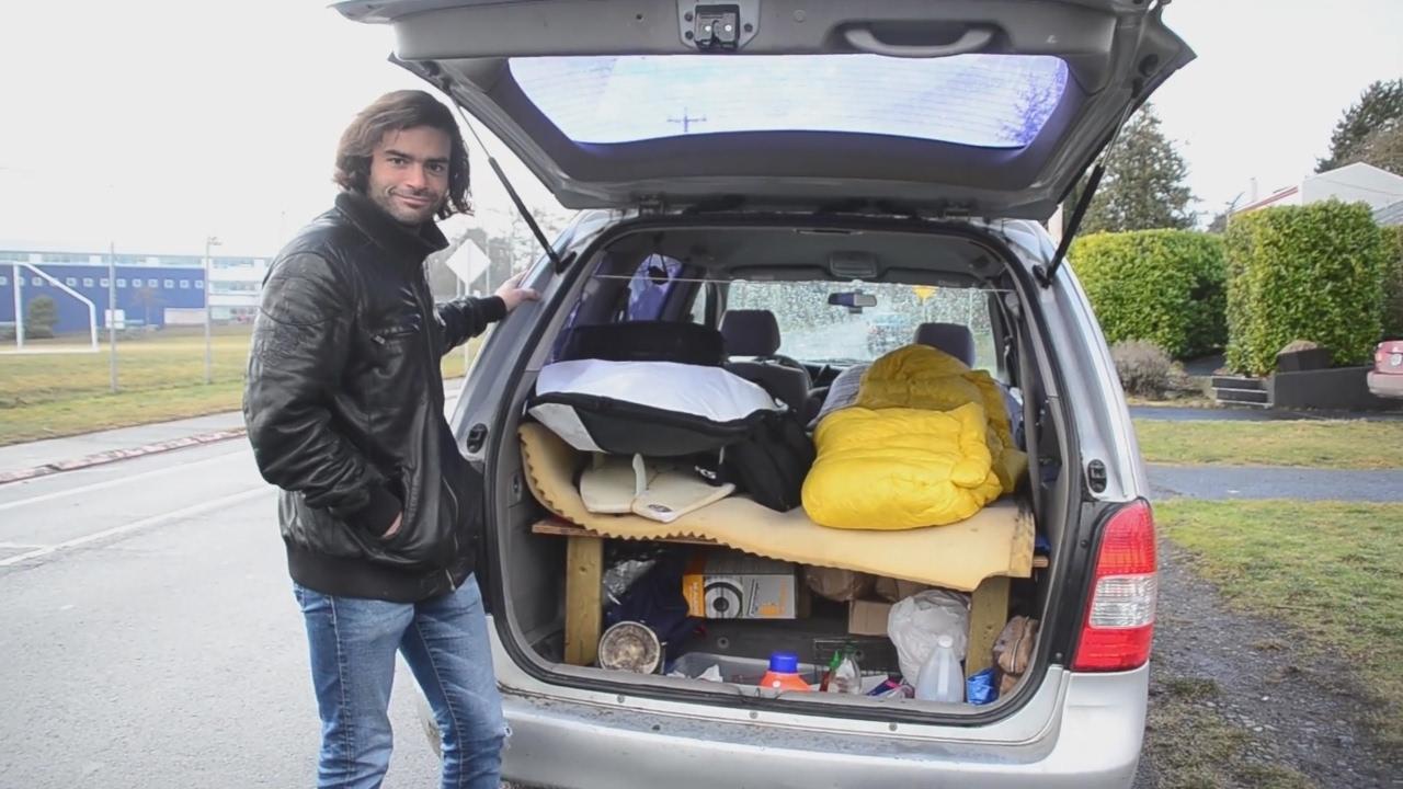 tour of a stealth minivan camper conversion ex software developer