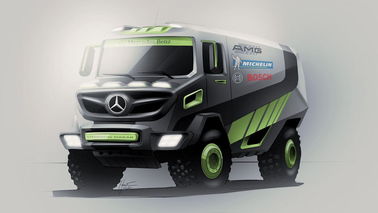 Mercedes Unimog Dakar Truck | Photoshop Render - YouTube