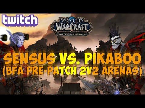 Sensus  WoW Rogue PvP  SensusGrickk vs PikabooGorecki! World of Warcraft BFA PrePatch 2v2s