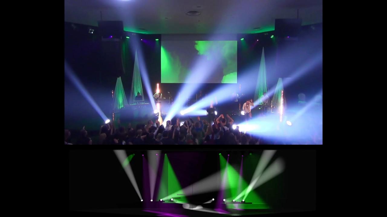 Alive remix visualizer live comparision lighting design
