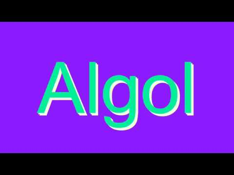 How to Pronounce Algol
