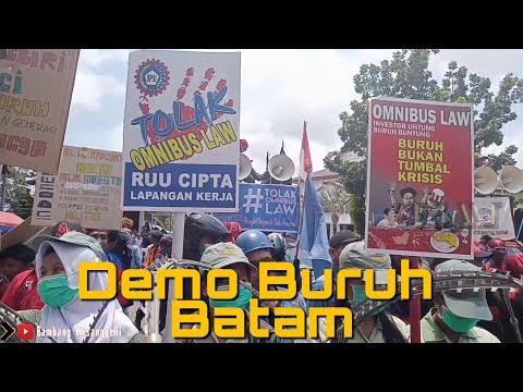 DEMO BURUH BATAM TOLAK OMNIBUS LAW