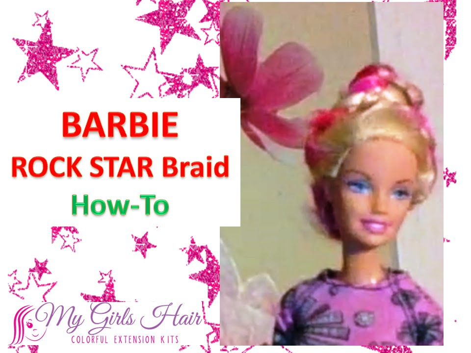 Barbie rock star hairstyle how to with colored hair extensions barbie rock star hairstyle how to with colored hair extensions pmusecretfo Images