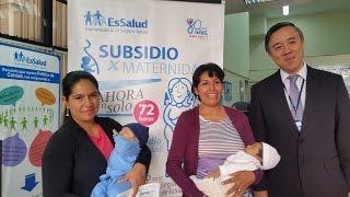 EsSalud redujo a 72 horas pago de subsidio por maternidad