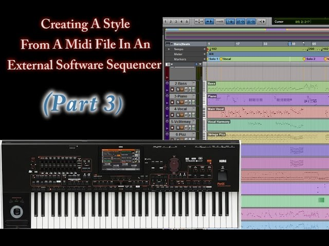 Part 3-Creating Style From Midi (Style Structure & Marker Names)
