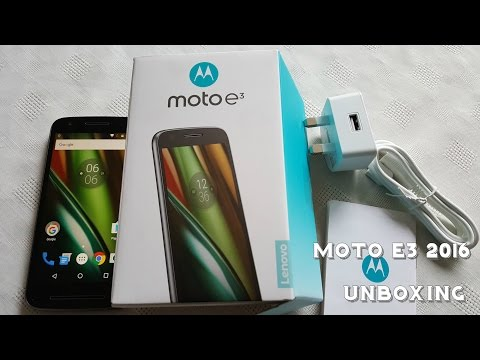 Lenovo Moto E3 2016 (Unboxing & 1st Bootup Hands On)