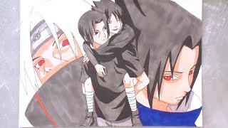 SPEED DRAWING Sasuke & Itachi Uchiha 【Naruto】