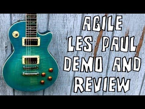 Agile AL-3010SE Les Paul Guitar Demo & Review