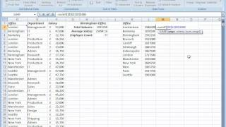 Analyzing Business Data with Excel - The SUMIF Function