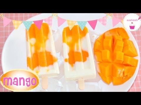 PALETAS DE MANGO con Yogurt Cremosas 💖sweetvanetv