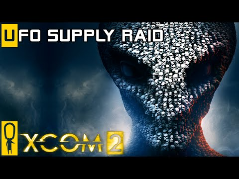 XCOM 2 - UFO Supply Raid Gameplay - Inside an Alien UFO - Preview Gameplay [Legend]