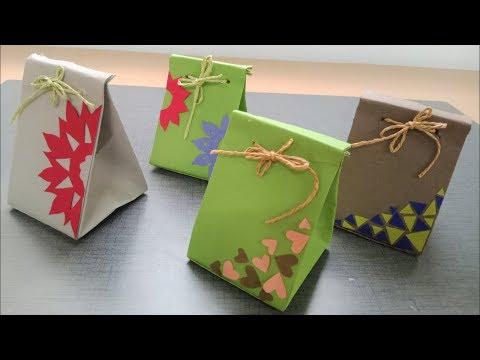 Paper bag tutorial   DIY easy paper craft tutorials