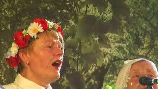 """00079 BALTICA 2018 """"Baltica 2018"""" folkloras kopu muzicēšana uz Telts skatuves"""