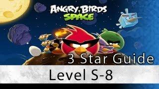Angry Birds Space - Level S-8 Utopia 3 Star Space Egg Bonus Level 3 Star Walkthrough
