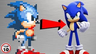 Top 10 Sonic Characters Before And After