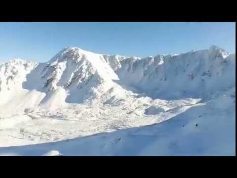 El sector de La Mine de Porté Puymorens a vista de drone