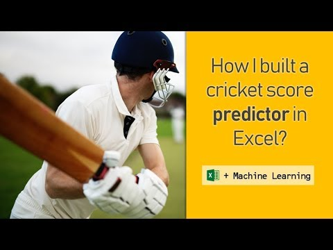 How to predict cricket scores [Excel + Machine Learning