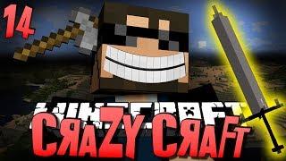 Minecraft CRAZY CRAFT 14 - A NEW WEAPON (Minecraft Mod Survival)
