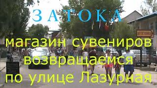 Затока . Отдых в Затоке . Часть 4 .(Затока ( Одесская область ) . Посещаем магазин сувениров и возвращаемся по улице Лазурная ., 2016-07-09T06:09:31.000Z)